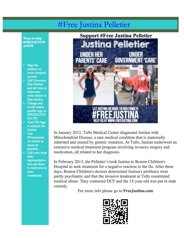 New #FreeJustina flyer to create Awareness