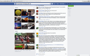 This is a picture of my friends facebook page showing Rep Murphys facebook and my post removed from public view